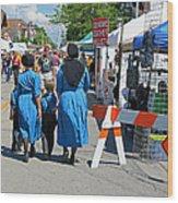 Summer Festival In Berne Indiana II Wood Print