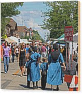 Summer Festival In Berne Indiana Wood Print by Suzanne Gaff