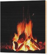 Summer Fire Wood Print