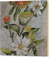 Summer Floral Wood Print