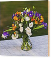 Summer Flowers Featured 3 Wood Print