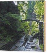 Summer Gorge Wood Print