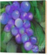 Summer Grape Wood Print