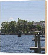 Summer Impression Lake Winnipesaukee Wood Print