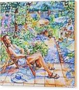 Summer In An Irish Garden  Wood Print