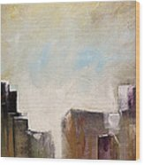 Summer In The City Abstract Geometric Original Painting On Canvas Wood Print