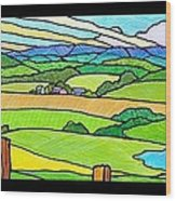 Summer In The Shenandoah Valley Wood Print