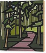 Summer In The Woods Wood Print by Kenneth North