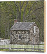 Summer Kitchen In Spring - Colonial Stone Wood Print