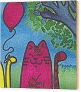 Summer Kittens Wood Print