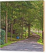 Summer Lane Wood Print
