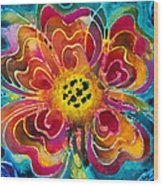 Colorful Flower Art - Summer Love By Sharon Cummings Wood Print