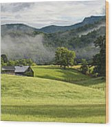 Summer Morning At Bakersville North Carolina Wood Print by Keith Clontz