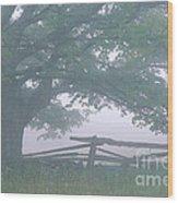 Summer Morning Fog Wood Print