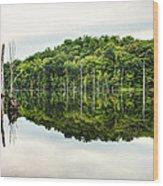 Summer Morning On Monksville Reservoir 2 Wood Print by Gary Heller