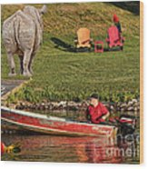 Summer Morning On Muskoka River Wood Print