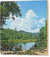 Summer Mountain Pond 2 Wood Print