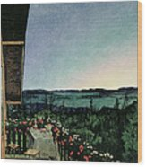 Summer Night Wood Print by Harald Oscar Sohlberg
