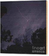Summer Night Lightning Wood Print