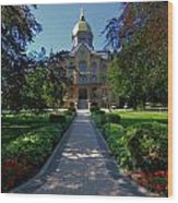 Summer On Notre Dame Campus Wood Print