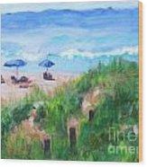 Summer On The Beach Wood Print