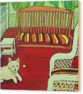 Summer Porch Wood Print