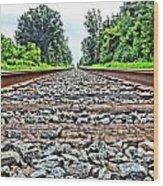 Summer Railroad Tracks Wood Print