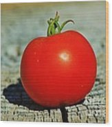 Summer Red Tomato Wood Print