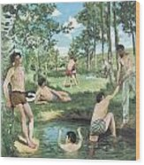 Summer Scene Wood Print by Frederic Bazille