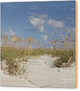 Summer Sea Oats Wood Print
