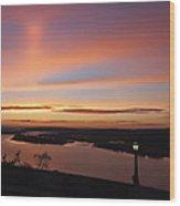 Summer Skies At Crown Point Wood Print