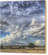 Summer Sky Farm Wood Print