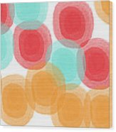 Summer Sorbet- Abstract Painting Wood Print