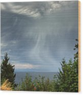 Summer Squall Wood Print by Randy Hall