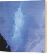 Summer Storm Clouds Wood Print