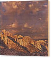 Summer Storm Clouds Over The Eastern Sierras California Wood Print