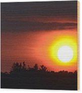Summer Sunset 4 Wc  Wood Print