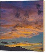 Summer Sunset Colorado Wood Print