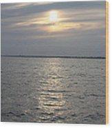 Summer Sunset Over Freeport Wood Print