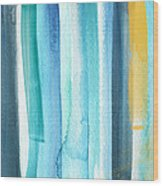 Summer Surf- Abstract Painting Wood Print