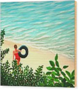 Summer Swim Wood Print