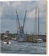 Summer Time Boating Wood Print