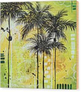 Summer Time In The Tropics By Madart Wood Print