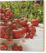 Summer Tomatoes Wood Print