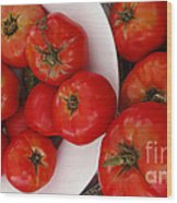 Summer Tomatoes Wood Print