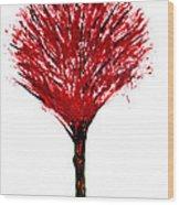 Summer Tree Painting Isolated Wood Print