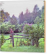 Summer Valley Fence Wood Print