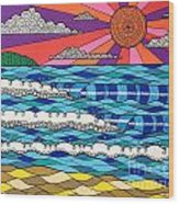 Summer Vibes Wood Print by Susan Claire