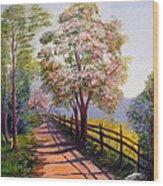 Summer Walk Wood Print