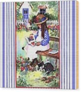 Summer's Day Story Wood Print